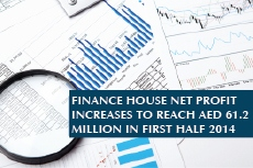 Finance House Net Profit Increases to Reach AED 61.2 Million in first half 2014